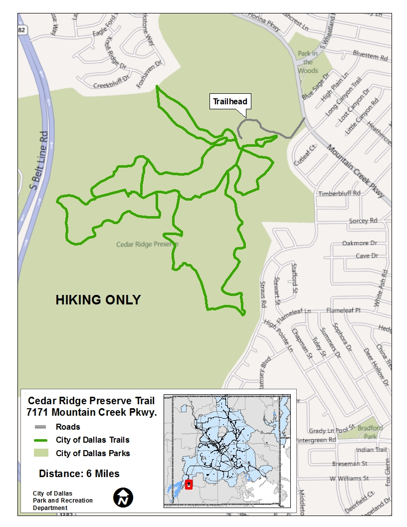 Cedar Ridge Preserve Trail Map