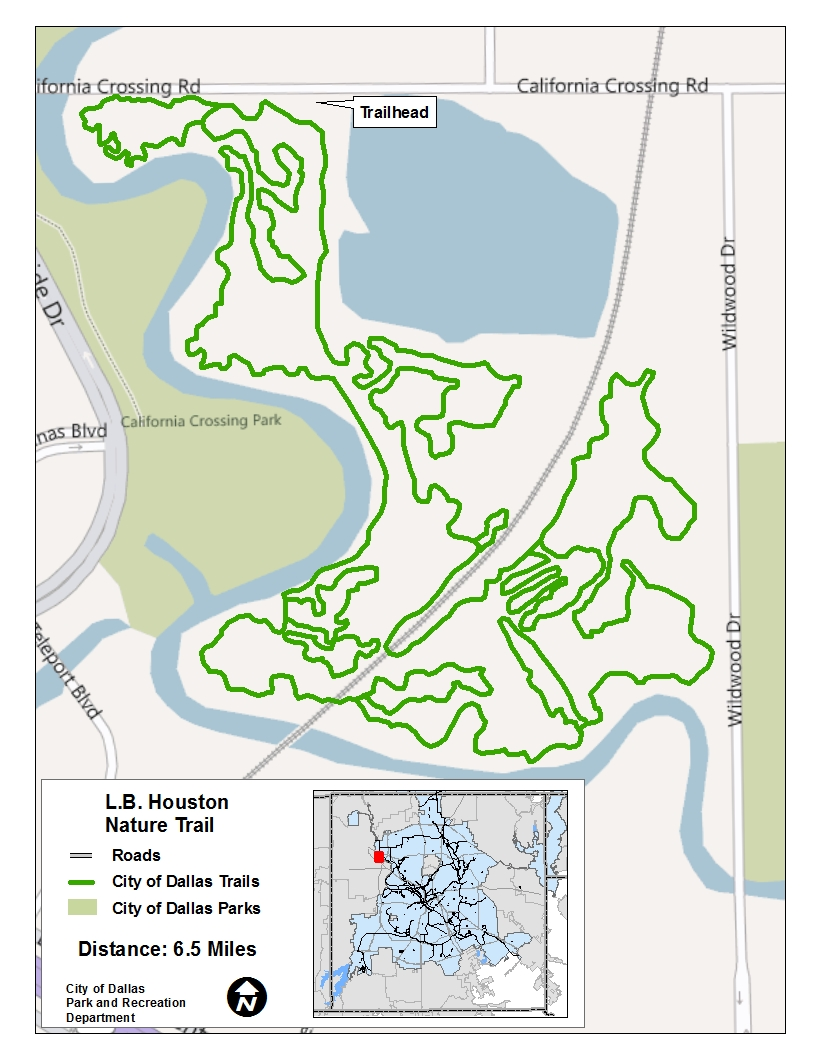 LB Houston Trail Map