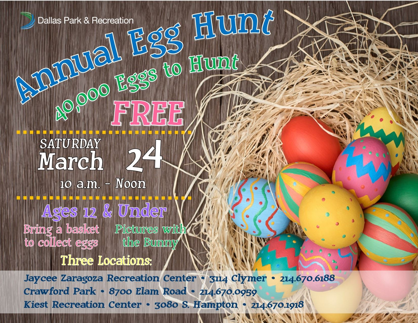 City Wide Egg Hunt 2018