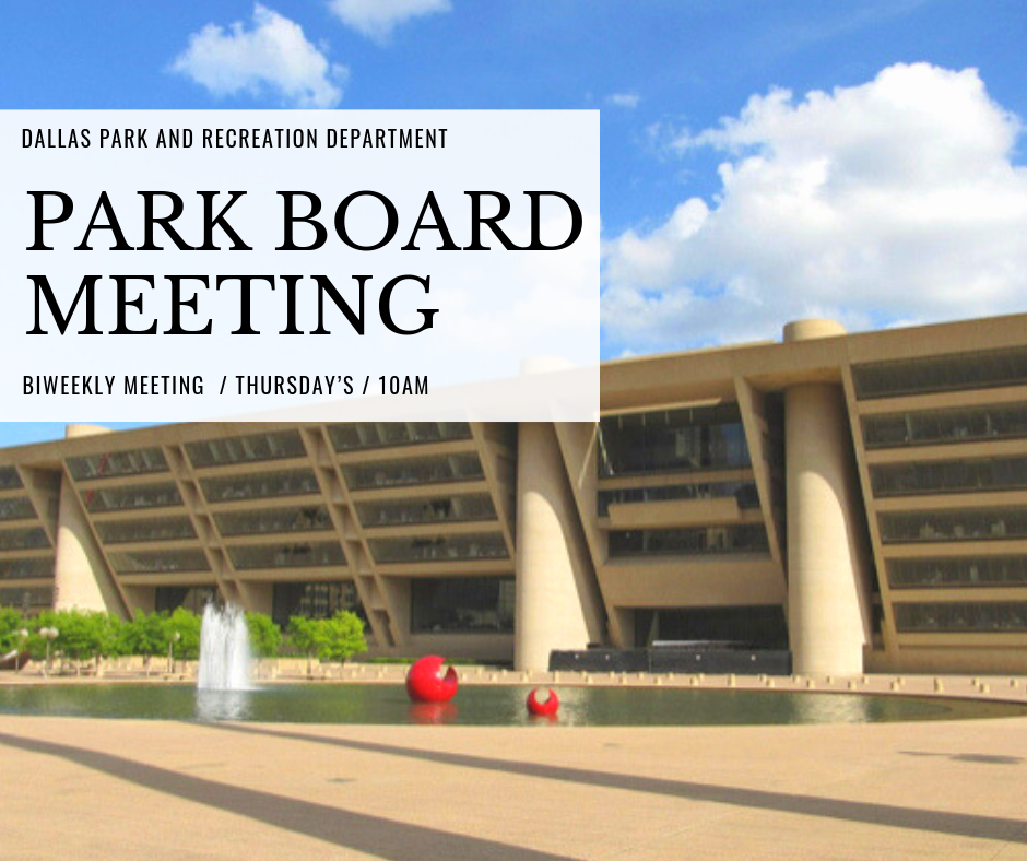 Park board Meeting