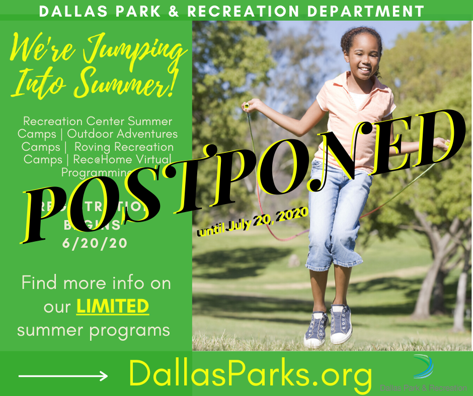 Summer Program Postponed Flyer