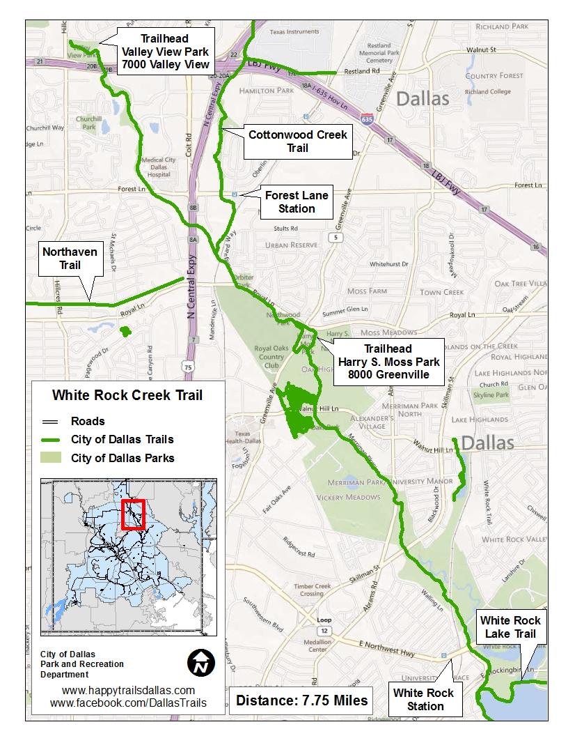 Major Linear Trails   Dallas Parks, TX - Official Website
